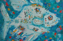 The Blue Fish. 2009. Oil on canvas. 40×50