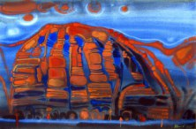 The red mountains 2. 2005. Paper, auarelle.