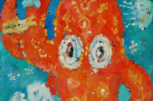 The Red Octopus. 1998. Acrylic on canvas. 50×40